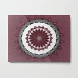 Mauve Kaleidoscope Art 1 Metal Print