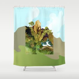 Love Under The Mountain Shower Curtain