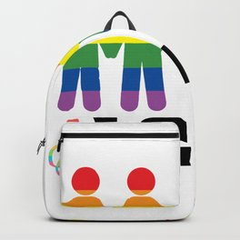 Lgbt together rainbow Backpack