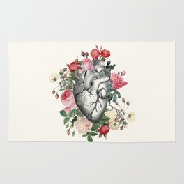 Roses for her Heart Rug