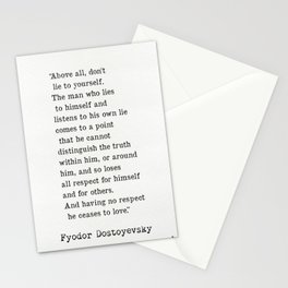 Fyodor Dostoyevsky quote Stationery Cards