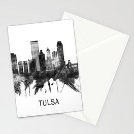 Tulsa Oklahoma Skyline BW Stationery Cards