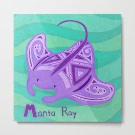 Manta Ray Metal Print