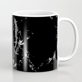 Black and Silver Marble Pattern Design Coffee Mug