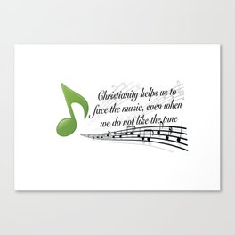 Face the Music Canvas Print