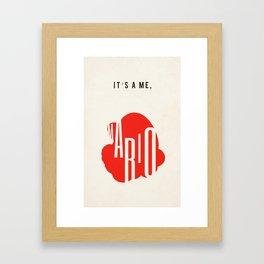 it's a me, mario! Framed Art Print