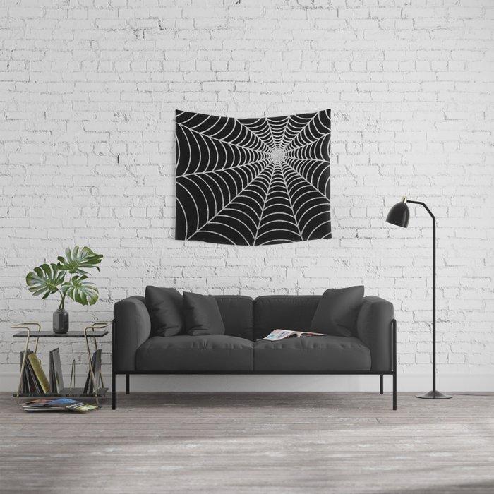 Spiderweb | Silver Glitter Wall Tapestry