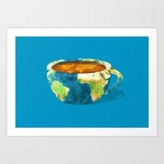 Coffee World Art Print