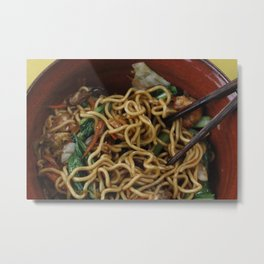Asia Noodles Metal Print