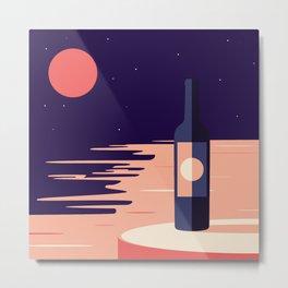 Moonlight + Wine Metal Print