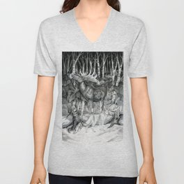 Ghost of Minong Unisex V-Neck