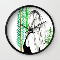 Wild Girl Wall Clock