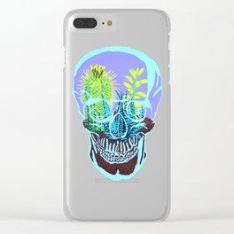 Skull Terrarium Clear iPhone Case