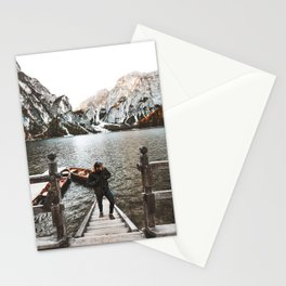 man at braies Stationery Cards