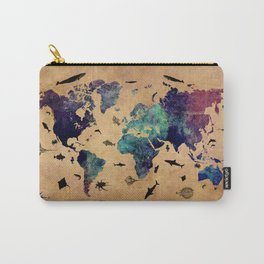 World map atlas Carry-All Pouch