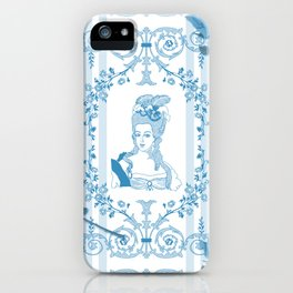 Marie-Antoinette Monogram (Aqua) iPhone Case