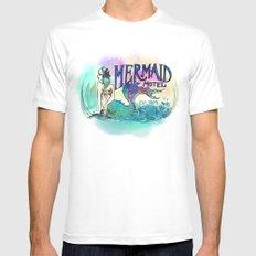 Mermaid Motel Mens Fitted Tee White MEDIUM