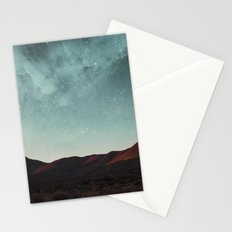 Universe above the mountain peaks Stationery Cards