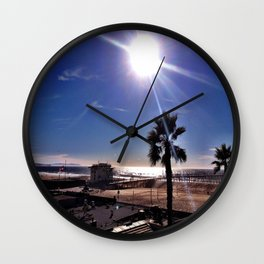 "Hermosa Beach ""Just Another Day"" Wall Clock"