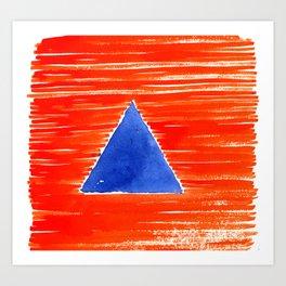 orange desert Art Print