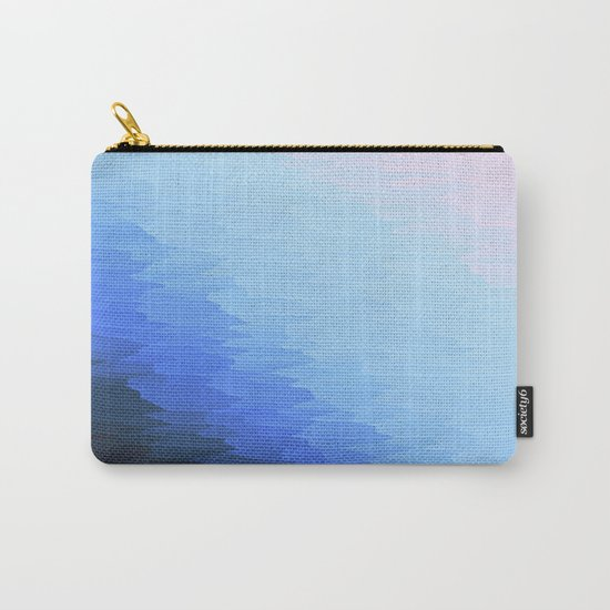 Blue Texture Ombre Carry-All Pouch