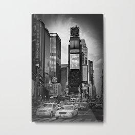 NEW YORK CITY Times Square | Monochrome Metal Print