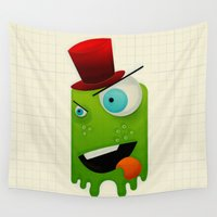 scary Wall Tapestries featuring Scary Monster by MadTee