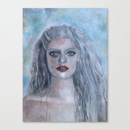 Portrait of a French Mermaid Canvas Print