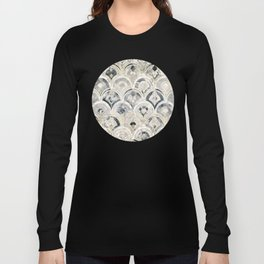Monochrome Art Deco Marble Tiles Long Sleeve T-shirt