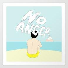 NO ANGER Art Print