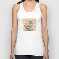 waldo Tank Tops featuring Ralph Waldo Emerson Bird by Wendy Roscoe Designs