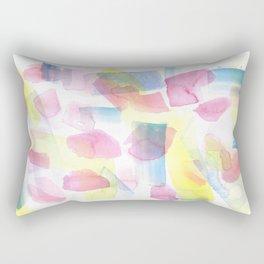 180527 Abstract Watercolour 4   Watercolor Brush Strokes Rectangular Pillow