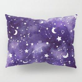 Zodiac Watercolor Ultraviolet Pillow Sham