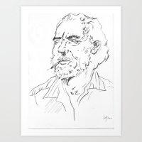 Charles Bukowski Portrait Art Print