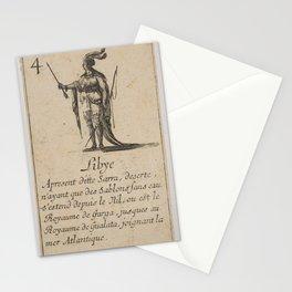 Game of Geography - Libya (Stefano della Bella, 1644) Stationery Cards