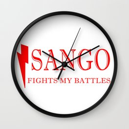 Sango Fights My Battles Wall Clock
