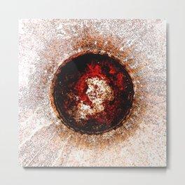 """Trashed Sun"" Metal Print"