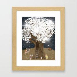 the starlight tree Framed Art Print
