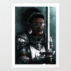 Knight two Art Print