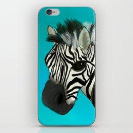 Color Pop Zebra iPhone Skin