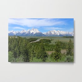 Snake River And The Grand Tetons Metal Print