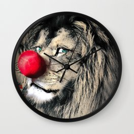 Circus Lion Clown Wall Clock