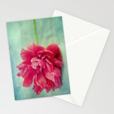 Peony on Blue Stationery Cards