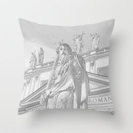 St Peter Rome in Pencil Throw Pillow