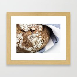 Clay Pot Baked Bread with Cranberries Framed Art Print