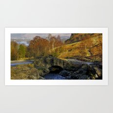 Ashness Bridge  Lake District Art Print