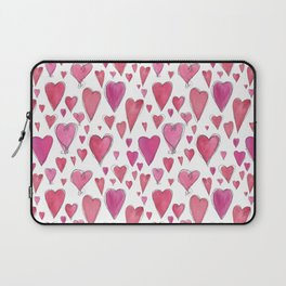 Watercolor My Heart (Small) by Deirdre J Designs Laptop Sleeve