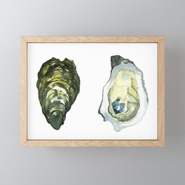 Watercolor Atlantic Oysters #1 by Artume Framed Mini Art Print