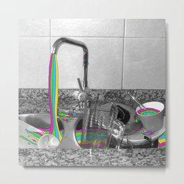 Dirty Dishes - Rainbow Series Metal Print