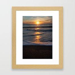 Beautiful sunrise in Kaikoura, New Zealand Framed Art Print
